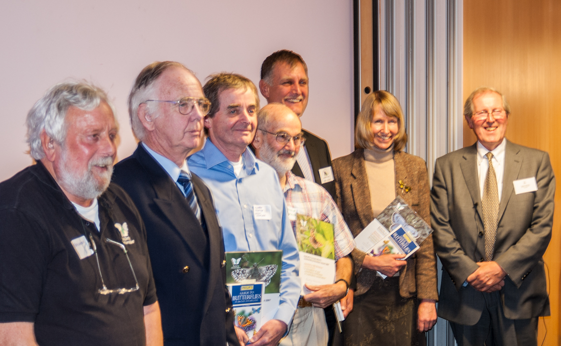 Mike Slater awarded Outstanding Volunteer Award by Butterfly Conservation.